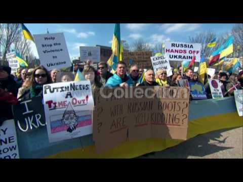 DC:UKRAINE PROTEST IN FRONT OF WHITE HOUSE