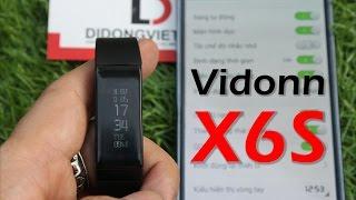 Trên tay Vòng đeo tay thông minh Vidonn X6S - Màn hình lớn, Thông báo Facebook