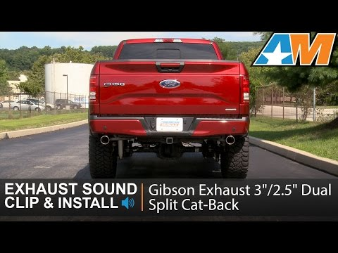 """Ford F150 Truck 15-18 2.5/"""" Dual Exhaust Flow II Stainless Muffler Black Tip"""