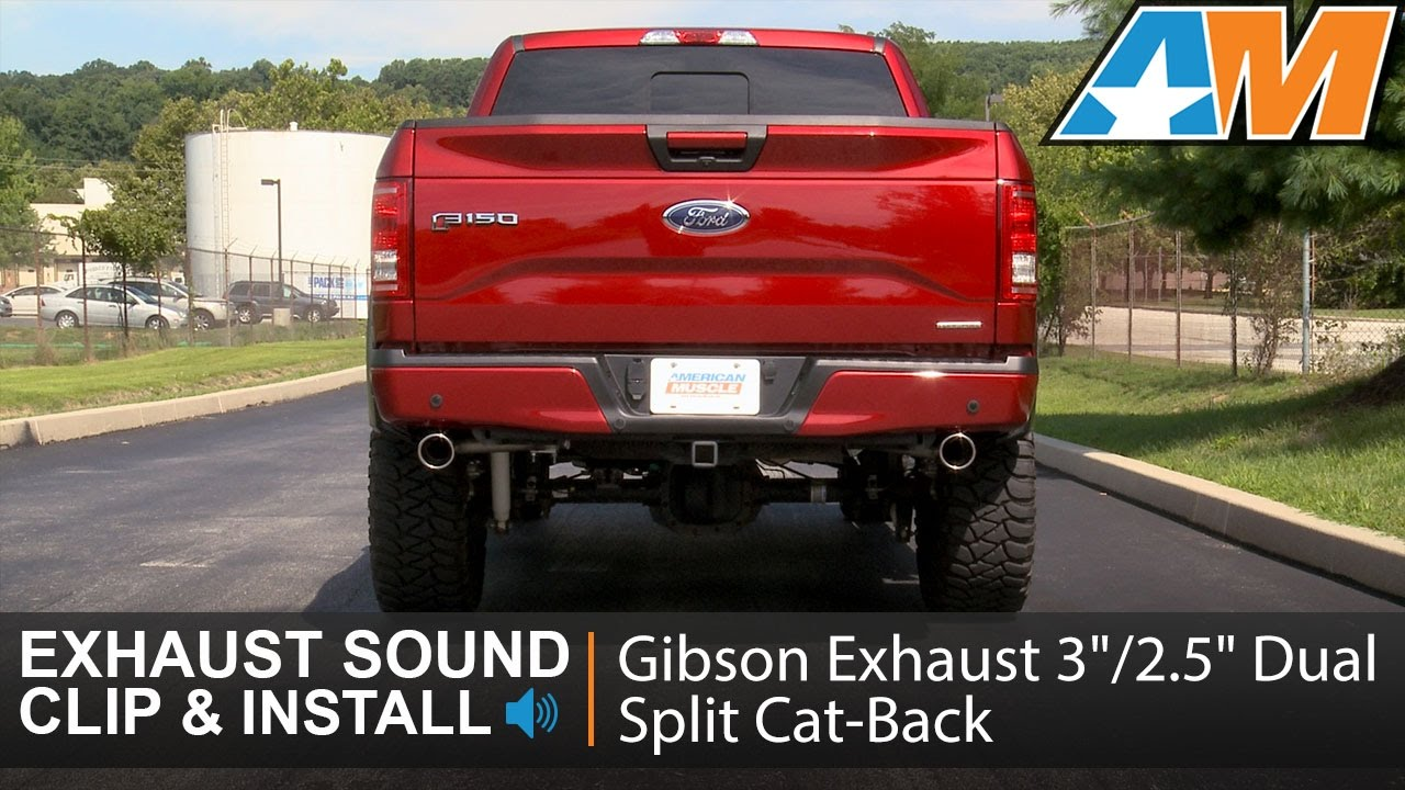 2015 2016 f 150 5 0l gibson exhaust sound clip 3 2 5 dual split cat back review install