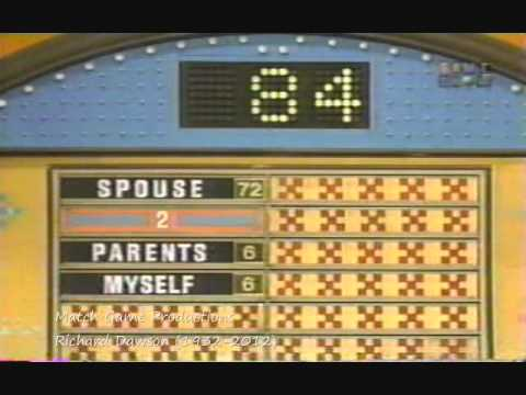 On the old game show channel I'm watching Family Feud with Richard