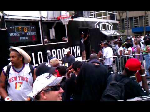 Brooklyn Nets rally at Boro Hall,Bklyn for Deron W