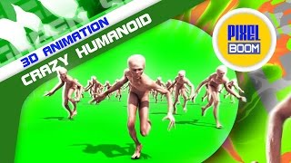 Green Screen Crowd Crazy Humanoid Invasion Climb up - Footage PixelBoom