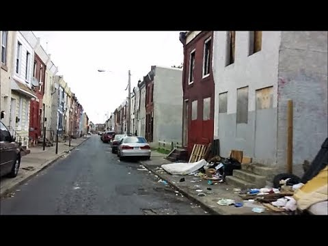 PHILADELPHIA : AMERICA'S WORST LOOKING GHETTOS