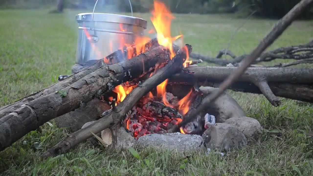 Survival Tips  How To Cook On Open Fire Coals With No Pots And Pans   Fish, Corn & Potatoes  Youtube
