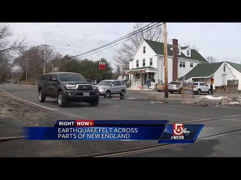 Earthquake Felt Across Eastern Massachusetts