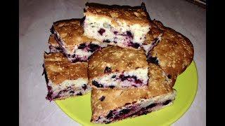 Рецепт приготовления пирога и кексов с чёрной смородиной