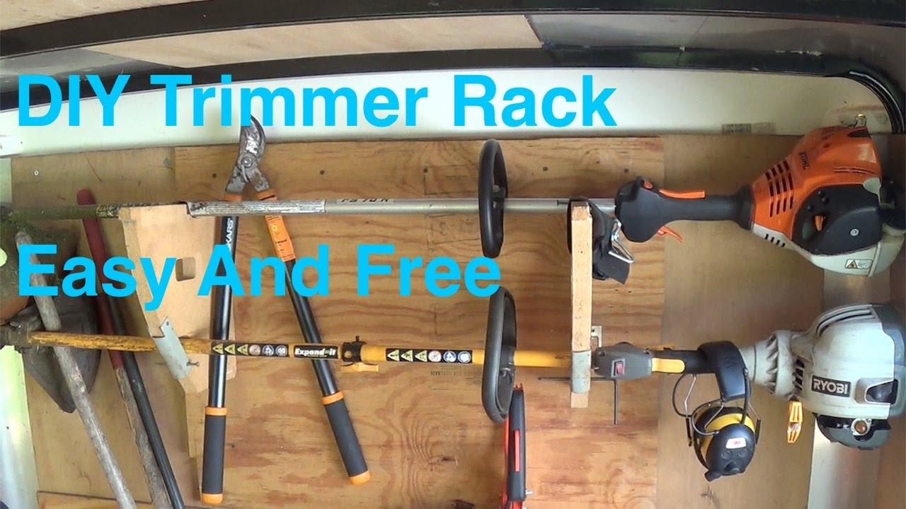 Diy Trimmer Rack Anybody Can Make Youtube