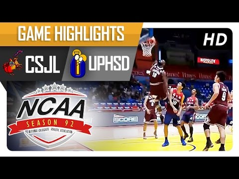 CSJL vs. UPHSD | Game Highlights | NCAA 92 - July 22, 2016