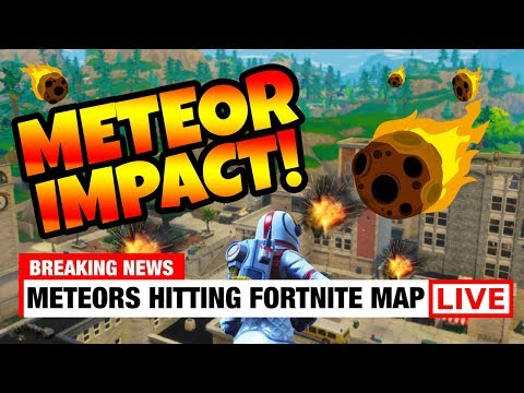 METEOR HITTING TILTED TOWERS RIGHT NOW! Fortnite Season 4 Map