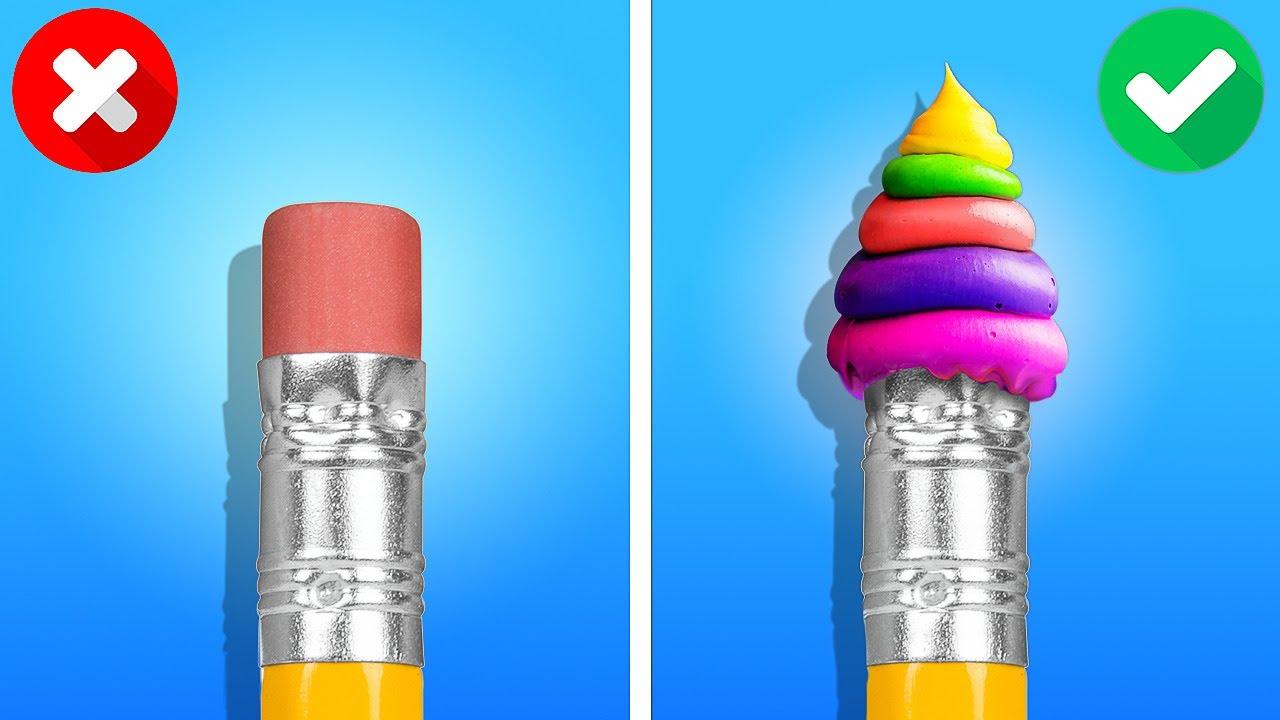 Fantastic School Tricks And DIY School Supplies    Colorful DIY Crafts To Brighten Your Days