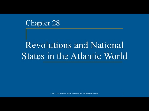 AP World History - Ch. 28 - Revolutions and National States in the Atlantic World