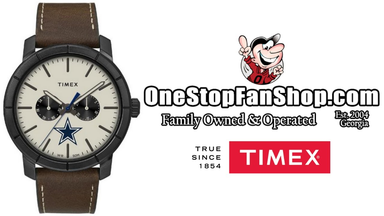 Timex Home Team Leather Watch: OneStopFanShop