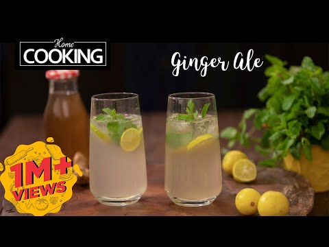 Ginger Ale | Drink Recipe | Refreshing Drinks | Ginger Lemon Drinks