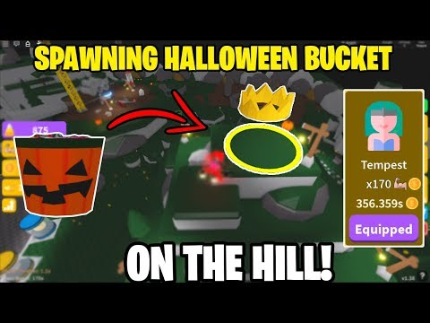 🗡️ SPAWNING HALLOWEEN BUCKET ON TOP OF KING OF THE HILL IN SABER SIMULATOR! *UNLOCKING TEMPEST!*🗡️ from YouTube · Duration:  10 minutes 30 seconds
