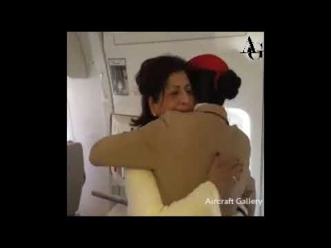 Heart touching Video!!Emirates cabin crew surprises her mother on board||Emirates Airways