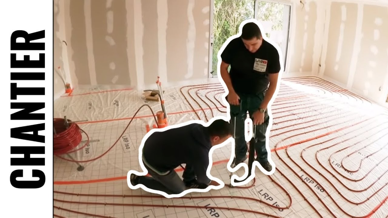 plancher chauffant rehau partie 3 la pose des tubes youtube. Black Bedroom Furniture Sets. Home Design Ideas