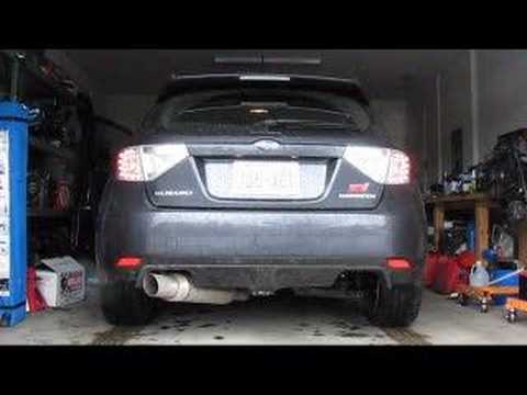 2008 Subaru Sti Magnaflow Single Exit Youtube