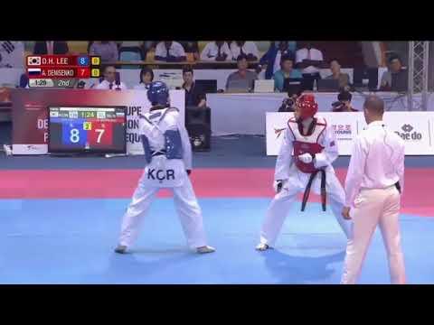 ABIDJAN 2017 WORLD TAEKWONDO GP Final -68kg Dae Hoon LEE(KOR)vs Alexey DENISENKO(RUS)