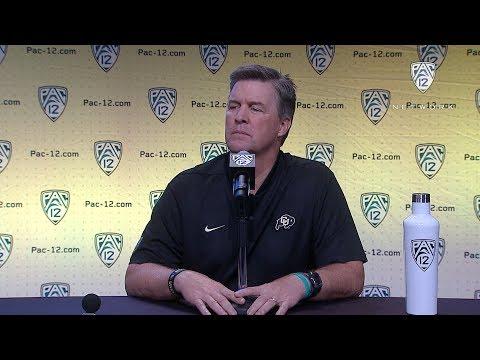 2018 Pac-12 Football Media Day: Colorado's Mike MacIntyre podium session