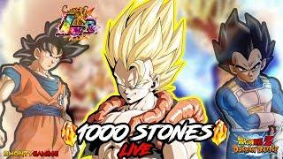 1000 STONES LIVE!! LR GOGETA SUMMONS & GIVING THE ACCOUNT AWAY!! | DRAGON BALL Z DOKKAN BATTLE