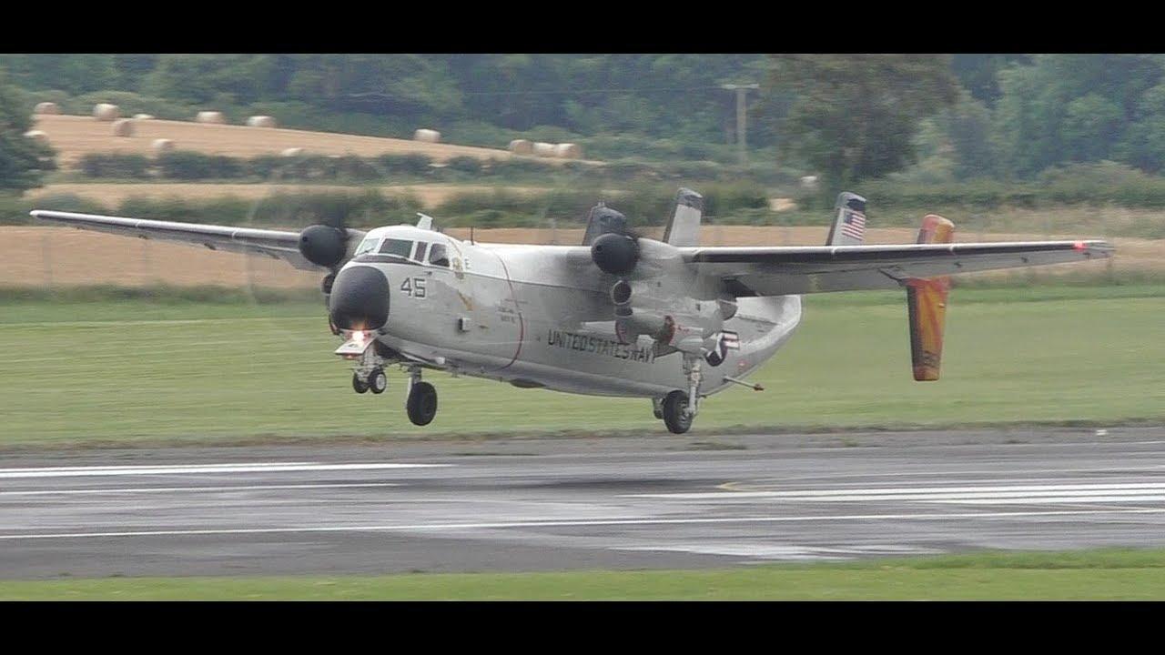 *VERY RARE* US Navy Grumman C2 Greyhound Landings & Takeoff at Prestwick  Airport