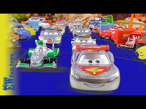 Thumbnail: Disney CARS RACE McQueen Francesco 2015 Disney Cars Story Set Toys