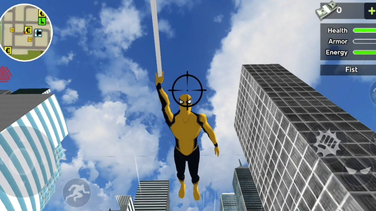 Flying Spider Rope Hero Vegas Crime City | Flying Superhero - Android GamePlay