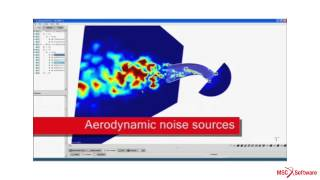 Actran - Aero-acoustic Simulation of a HVAC Duct