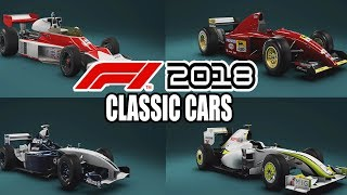 F1 2018 All Classic Cars Gameplay
