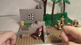 Лего самоделка #24 на тему Вторая Мировая (Засада) на конкурс Dart Man!