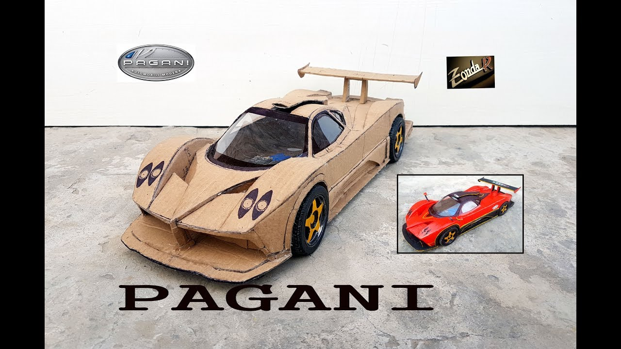 how to make toy car with cardboard