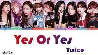 twice yes or yes color coded