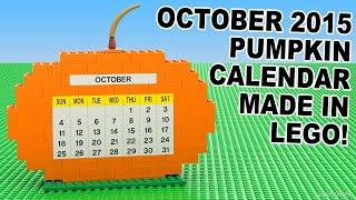 Custom Build - October 2015 Pumpkin Lego Calendar
