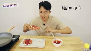 Cách làm Bánh gạo Soteokso _소떡소떡 _ Soteokso Rice Cake_ Leelee
