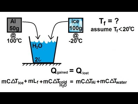 Physics - Thermodynamics: Calorimetry (3 of 5) Finding The Final ...