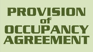Ernescliffe Housing Cooperative - Mandatory Provision of Occupancy Agreement