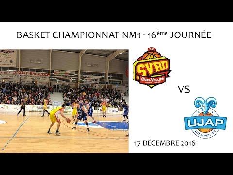 Basket NM1 16ème journée SVBD QUIMPER 17 12 2016
