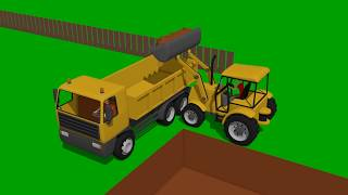 Mini Excavator, Bulldozer and other Construction vehicles for KIDS and BABIES | Fairy tales Vehicles
