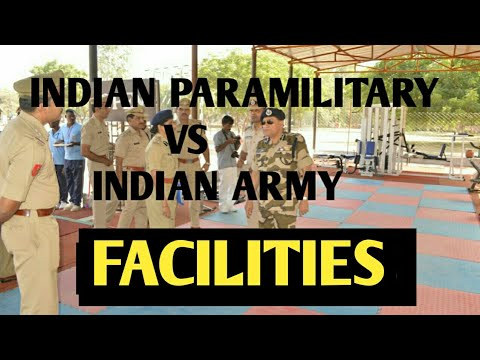 PARAMILITARY FORCES vs INDIAN ARMY FACILITIES|(PENSION,MEDICAL,ACCOMMODATION,CANTEEN,EX SERVICEMEN)
