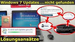 Windows 7 Updates werden nicht gefunden   Update hängt, reagiert und funktioniert nicht