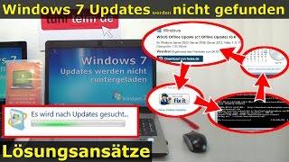 Windows 7 Updates werden nicht gefunden | Update hängt, reagiert und funktioniert nicht