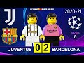 Juventus vs Barcelona 0-2 • Champions League 20/21 • Goals Highlights Juve Barcellona Lego Football
