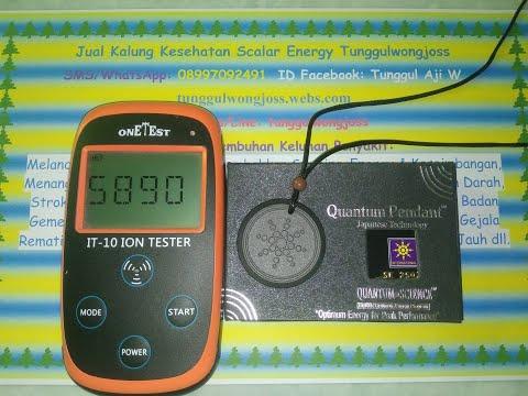 Quantum Pendant Bio - Scalar Energy Test Asli Original dengan Ion Tester