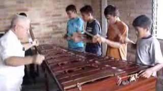 AHLE (Honduras) Marimba group practice 2