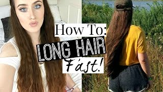 HOW TO: GROW LONG HAIR FAST! [EASY AT HOME TIPS & TRICKS]