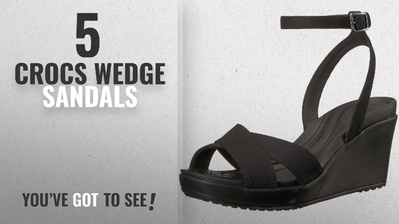 2a21ab6b3c93 Top 5 Crocs Wedge Sandals  2018   Crocs Women s Leigh II Ankle Strap ...