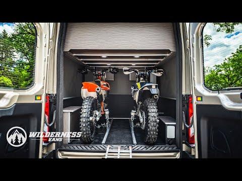 Wilderness Vans TransMoto Camper Van With Dirt Bike Garage