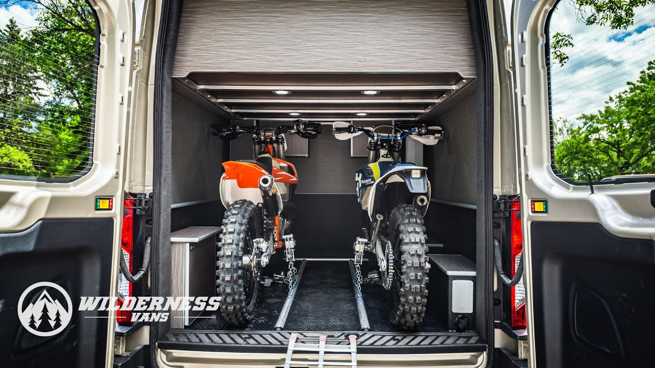 Wilderness Vans TransMoto Camper Van With Dirt Bike Garage