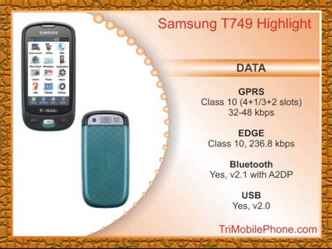 Samsung T749 Highlight Mobile Phone Specification, Features and Slide show